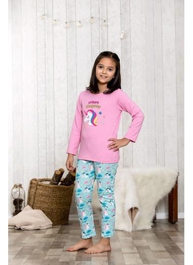 Lingabooms Unicorn 2'li Çocuk Pijama Takım  Pembe